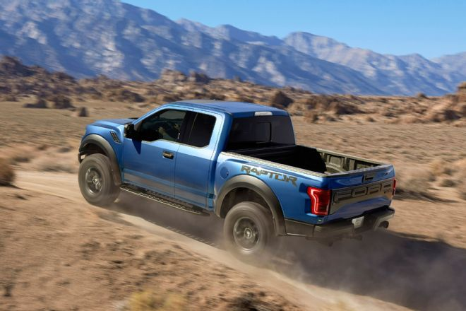 2017-ford-f-150-raptor-left-rear-driving