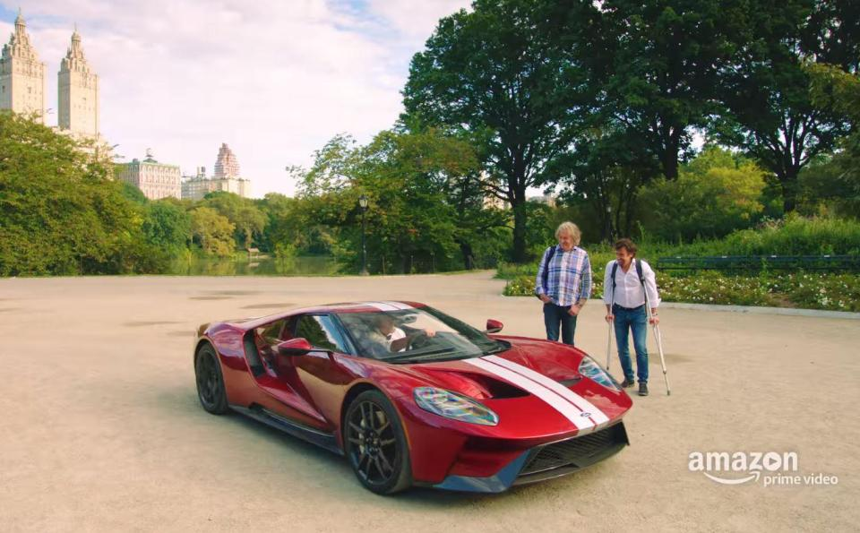 Not To Be Outdone By That Stupendous Announcement Jeremy Saddled An All New Ford Gt And Raced James And Richard From New York City To Niagara Falls